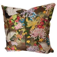 Custom Pillow Cut from a Vintage Japanese Silk Uchikake Wedding Kimono