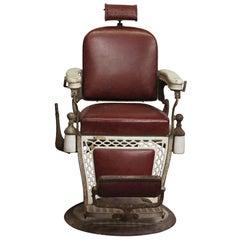 1920s Emil J. Padair Barber Chair