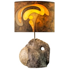 Important Stoneware Lamp by Christian Pradier, France, 1970