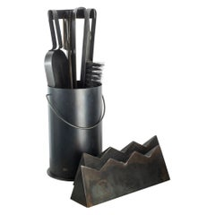 Ceremony Fireplace Tool Set, Designer Ambroise Maggiar, Made by Flli. Argiolas