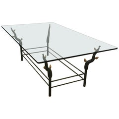 Wrought Iron Coffee Table in the Style of Garouste et Bonetti