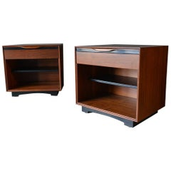Pair of Walnut Nightstands or End Tables by John Kapel for Glenn of California
