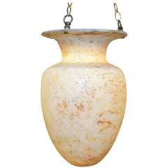 Classical Urn Alabaster Light Fixture