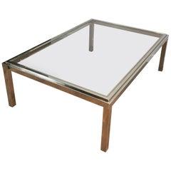 Large Chrome Coffee Table, circa 1970