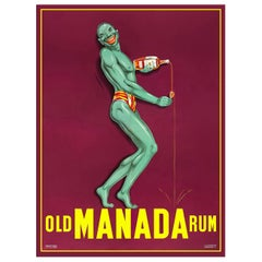 Old Manada Rum, after French Expressionist Lithograph