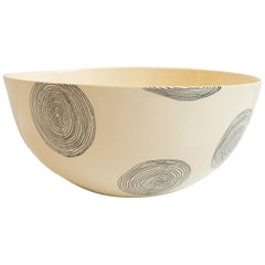 Medium Sized Ceramic Bowl with Swirling Design