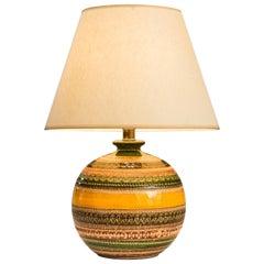 An Italian Ceramic Lamp