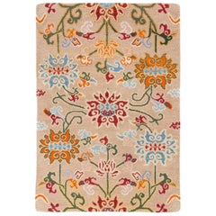 Tibetan Wool Floral Handwoven Rug by CARINI