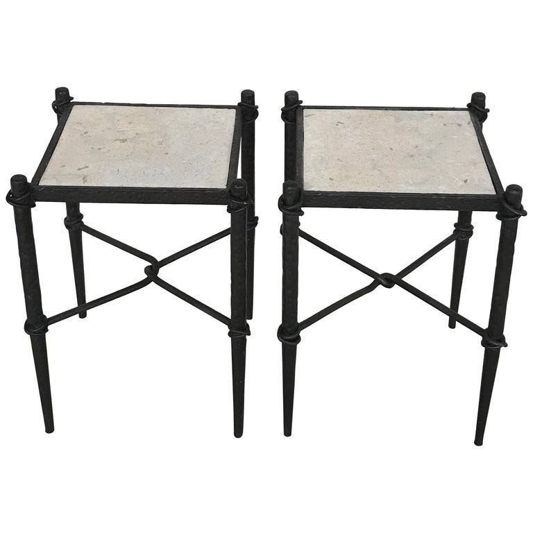 Pair of Giacometti Style Side Tables