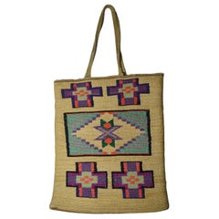 Fine Old Native American Indian Plateau Corn Husk Bag