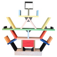 Early Carlton Bookcase Roomdivider by Ettore Sottsass for Memphis, 1981