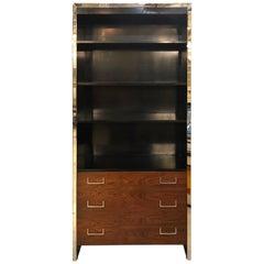Milo Baughman for John Stuart Mid-Century Modern Bookcase Ebony and Rosewood