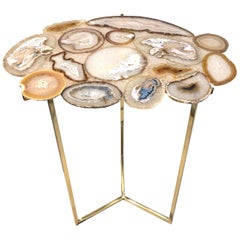Unique Agate Stones Mosaic Coffee Table