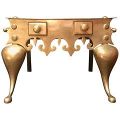 19th Century English Brass Footman