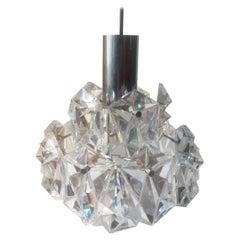 Mid-Century Modern Etched Glass Pendant Chandelier by J.T. Kalmar, 1960s