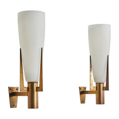 Pair of Large Sconces by Stilnovo