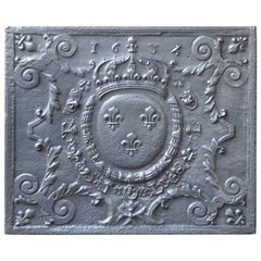 17th Century French Louis XIV 'Arms of France' Fireback