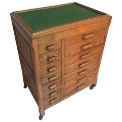 20th Century French Oak Workshop Chest of Drawers, 1920