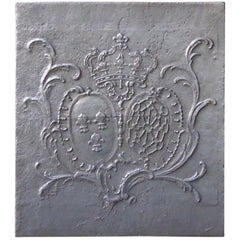 18th Century French Louis XV 'Arms of France and Navarre' Fireback
