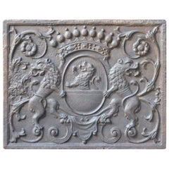 17th-18th Century French Louis XV 'Coat of Arms' Fireback