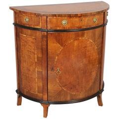 Fine George III Period Small Semi-Circular Side Cabinet