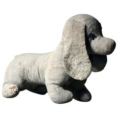 Early 20th Century French Naïve Dachshund/Sausage Toy Dog, circa 1920