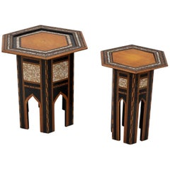 Two Arabesque Tabouret Tables