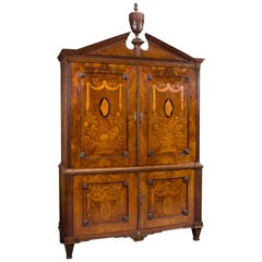 An 18th Century Neoclassical Mahogany Armoire With Marquetry Inlay, Circa 1770