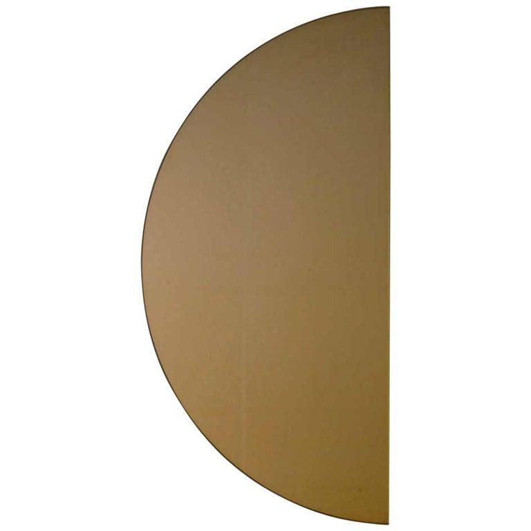 Minimalist Bathroom Wall Decor: Minimalist Bronze Tinted Bathroom Wall Mirror Frameless