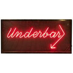 'Underbar' Neon Sign Reclaimed from Hardy's, Marylebone, London