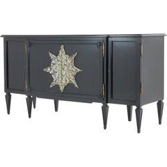 Ebonized Cabinet with Crystal Decoration