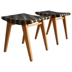 Pair of Early Jens Risom Stools