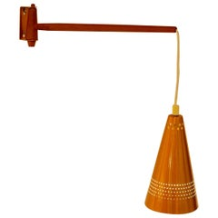 Early copper wall lamp by Hans-Agne Jakobsson