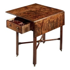 Superb Quality Chippendale Period Mahogany Pembroke Table