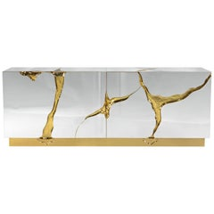 Paradise Sideboard with Solid Brass in Gold Finish