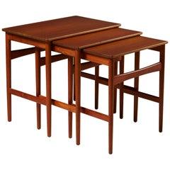 Nest of Tables Designed by Hans J. Wegner for Andreas Tuck, Denmark, 1950s