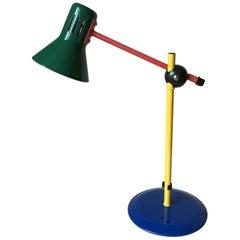 End of 20th Century Italian Primary Colors Desk Lamp by Veneta Lumi