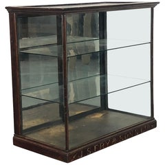 Vintage Industrial Glazed Fry's Chocolate Shop Cabinet