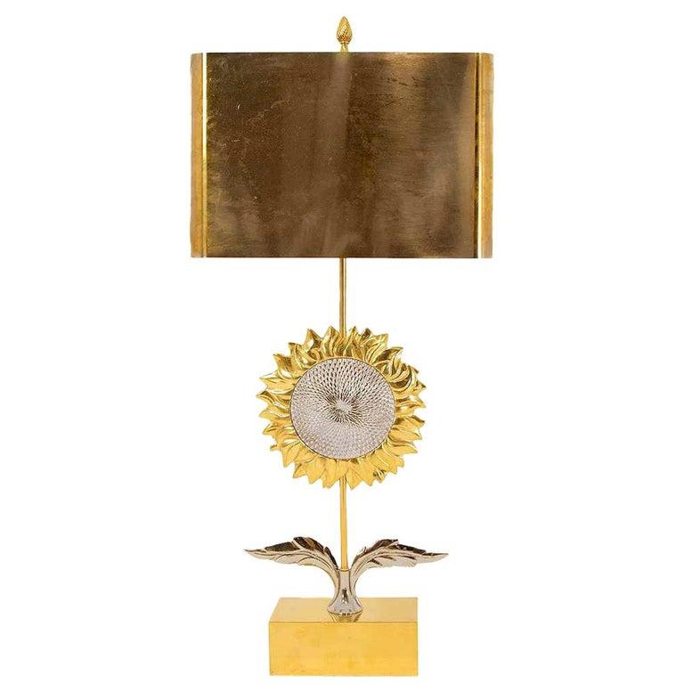 Maison Charles, Sunflower Lamp, 1970s