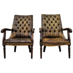 2 Chesterfield Chippendale Wing Chair Armchair Baroque Antique