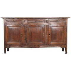 French 19th Century Hand Carved Oak Enfilade