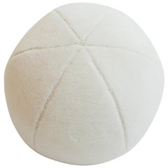 Round Ball Throw Pillow in Alpaca Fur Blend
