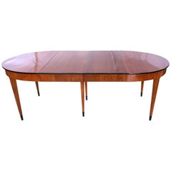 Biedermeier Expandable Table, Cherry Veneer, Southwest Germany/France circa 1820