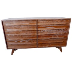 American Modern Cerused Oak Eight Drawer Chest, circa 1950's