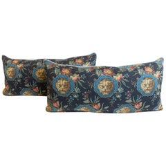 Lumbar Pillow with Gucci Lion Print