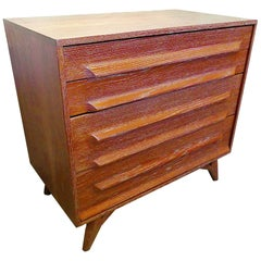 American Modern Cerused Oak Four Drawer Chest, 1950s