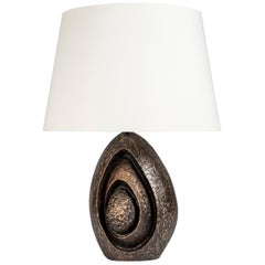 Rare Sculptural Bronze Lamp by Fernand Dresse