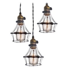 3 Spring Wire Cage Pendent