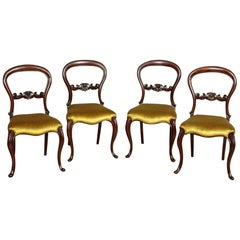 Four 19th Century Louis Philippe Mahogany Chairs, circa 1880