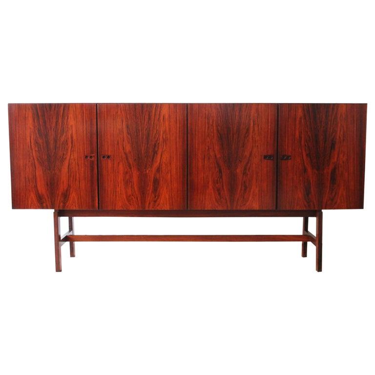 Arne Vodder Brazilian Rosewood Sideboard Credenza For Sale